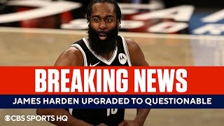 Nets Upgrade James Harden to Questionable for Game 5 | Bucks vs Nets | CBS Sports HQ