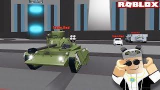 Réservoir ile Kapômaya Girdik! Panda ile Roblox Car Crushers 2