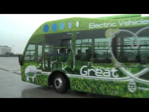 Test Rides of Great Dragon Electric Bus at Eco Expo Asia 2010