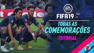 FIFA 19   TODAS AS COMEMORAÇÕES  - TUTORIAL   PLAYSTATION E XBOX