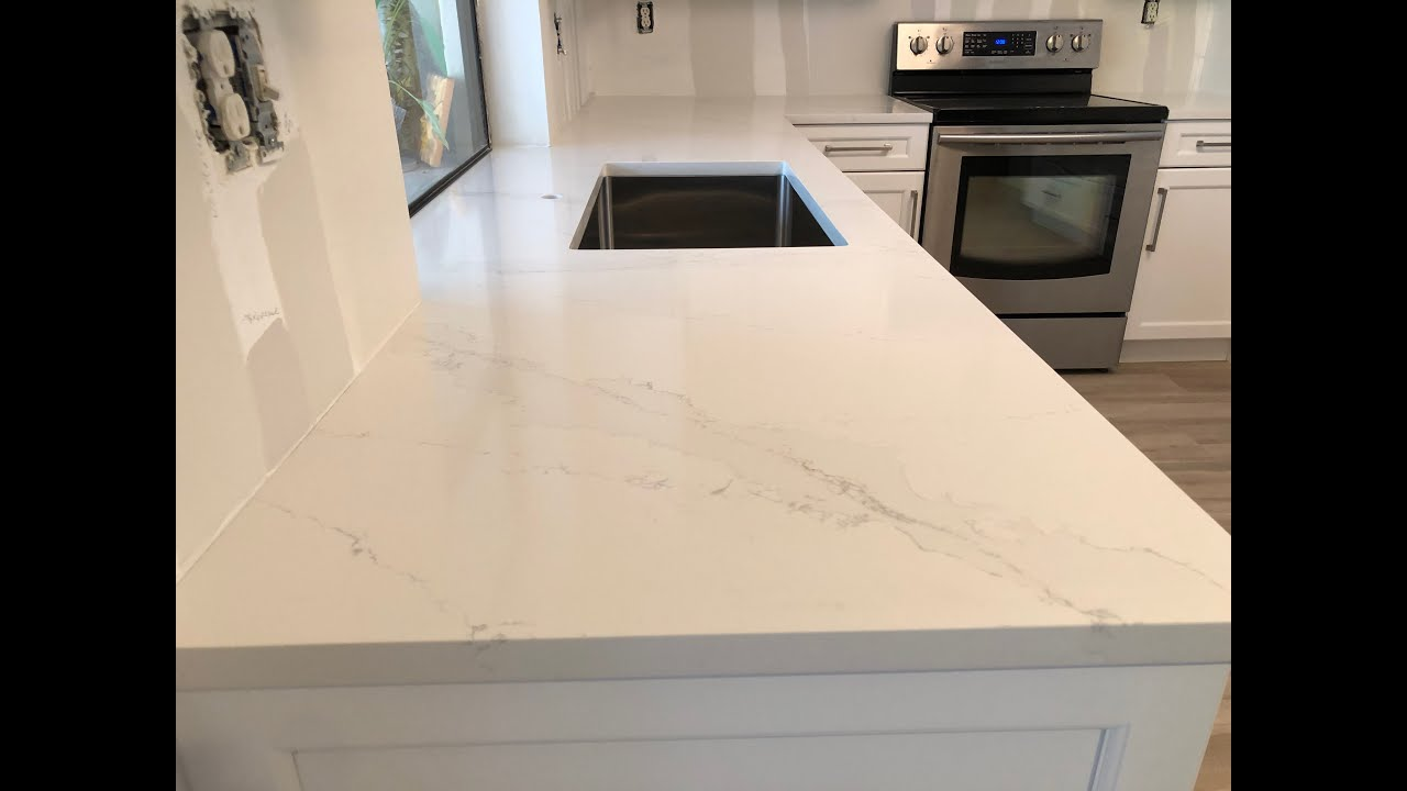 How Silestone Calacatta Gold Countertops Looks Installed