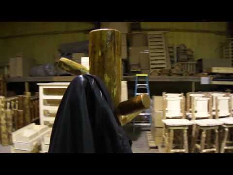 Amish Made Glacier Country Log Furniture Tall Coat Tree by Montana Woodworks