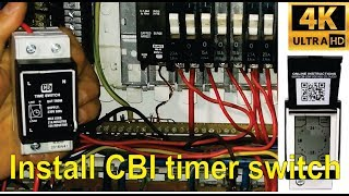 How to install and program the CBI QAT-TRDM timer switch- detailed