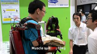 Tokyo University of Science muscle suit - CEATEC 2012