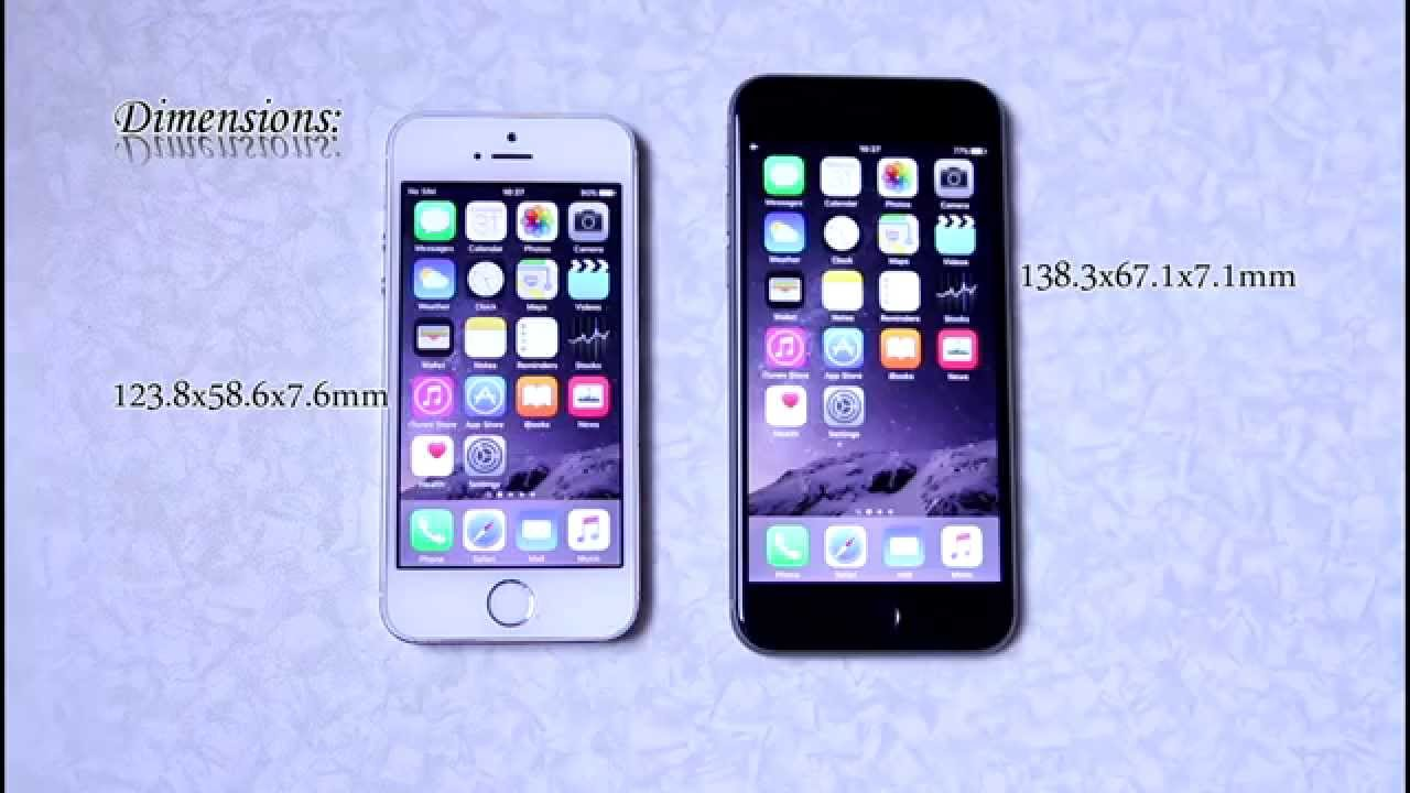 iphone 5s vs iphone 6s comparison