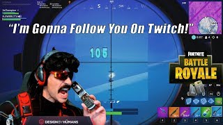 DrDisrespect IMPRESSED By Random Fortnite Teammate! & Explains Why He Quit COD Blackout!
