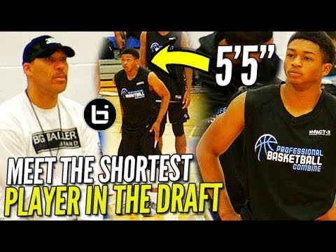 "Lavar Ball WATCHES the SHORTEST PLAYER in the DRAFT! 5'5"" Junior Robinson PBC Highlights!"