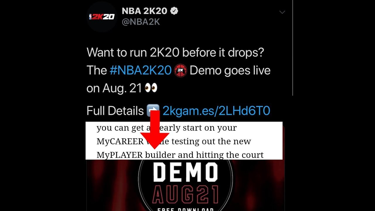 NBA 2K20 NEW MYPLAYER BUILDER AND DEMO RELEASE DATE