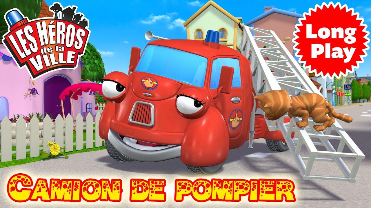 Les h ros de la ville camion de pompier compilation dessin anim dessin anim pour - Dessin anime pompier gratuit ...