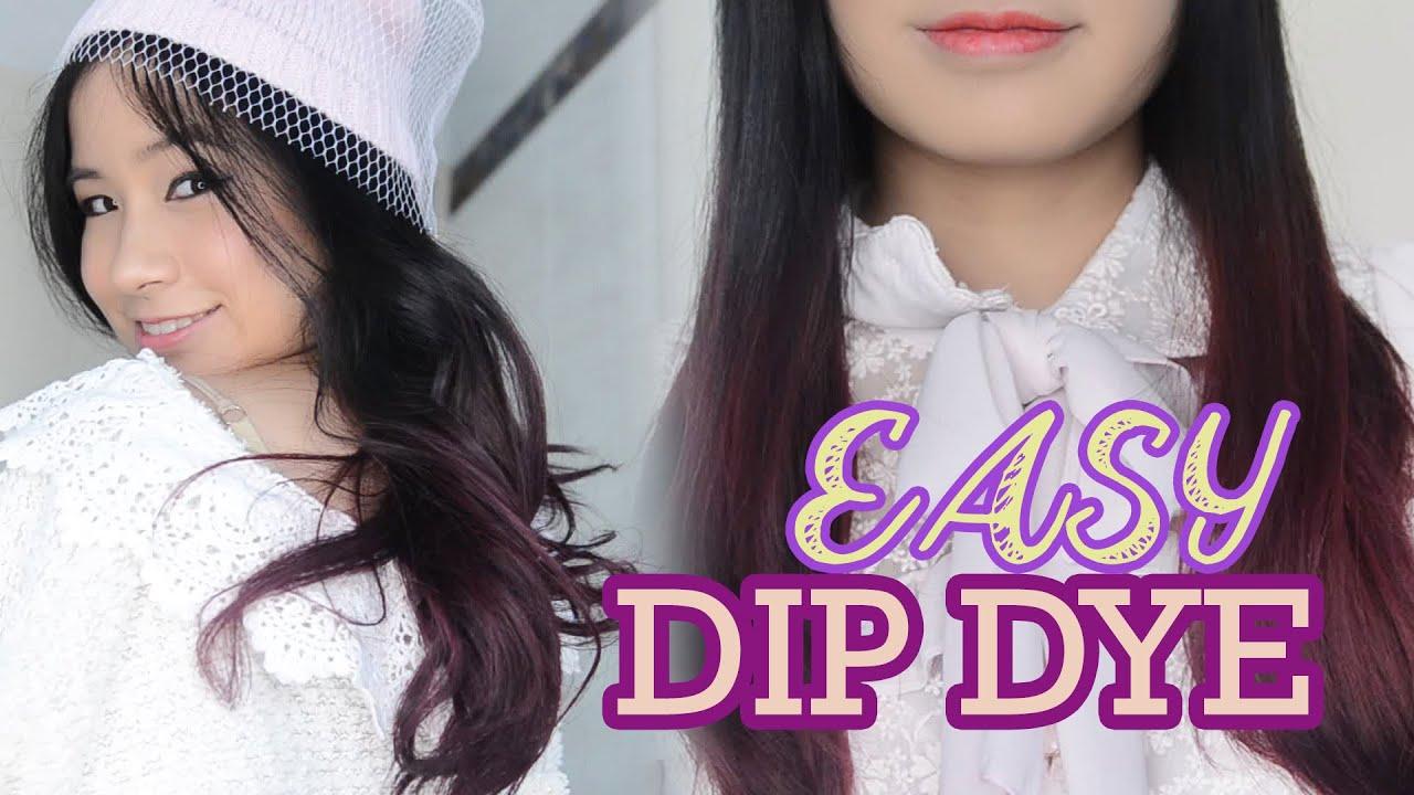 PURPLE HAIR How to EASY Dip Dye Hair at Home