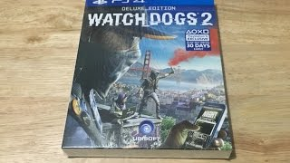 Watch Dogs 2 Deluxe Edition (PS4) - Unboxing