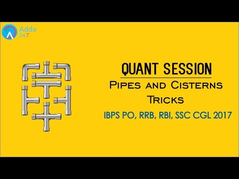 IBPS RRB PO & SSC CGL 2017   Pipes and Cisterns Tricks   Maths   Online Coaching for SBI IBPS