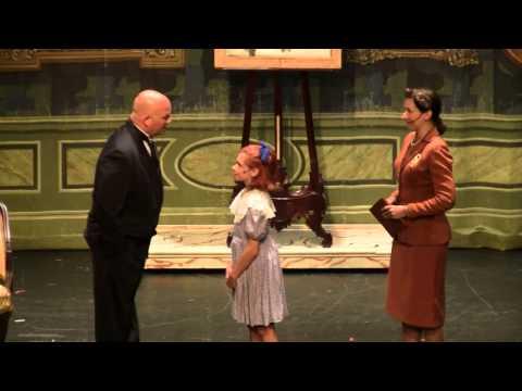 Annie (Emilia Torello) meets Oliver Warbucks Thalian Hall 2011 Wilmington, NC
