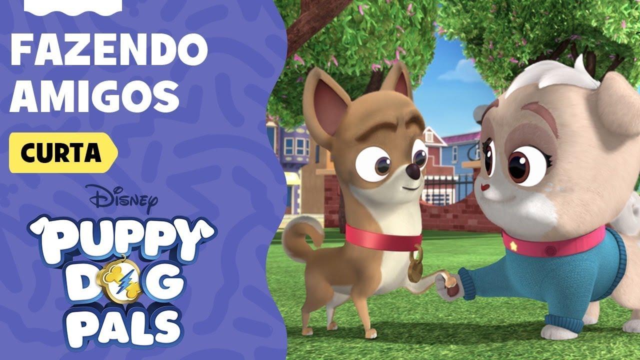 Fazendo Amigos | Brincando com Bingo e Rolly | Puppy Dog Pals