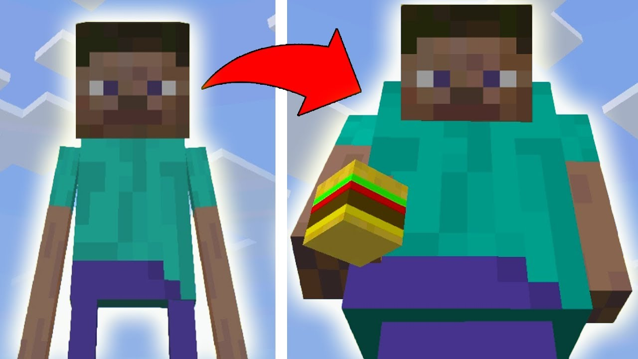 you should never get steve fat in minecraft pe realistic mcpe 1 2