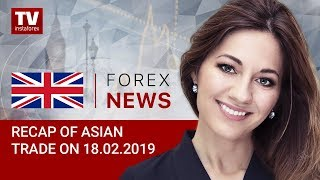 InstaForex tv news: 18.02.2019: USD to depend on trade talks in Washington: USDX, USD/JPY, AUD/USD