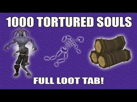 [Runescape 3] Loot from 1000 Edimmu Tortured Souls | Shades of Mort'ton