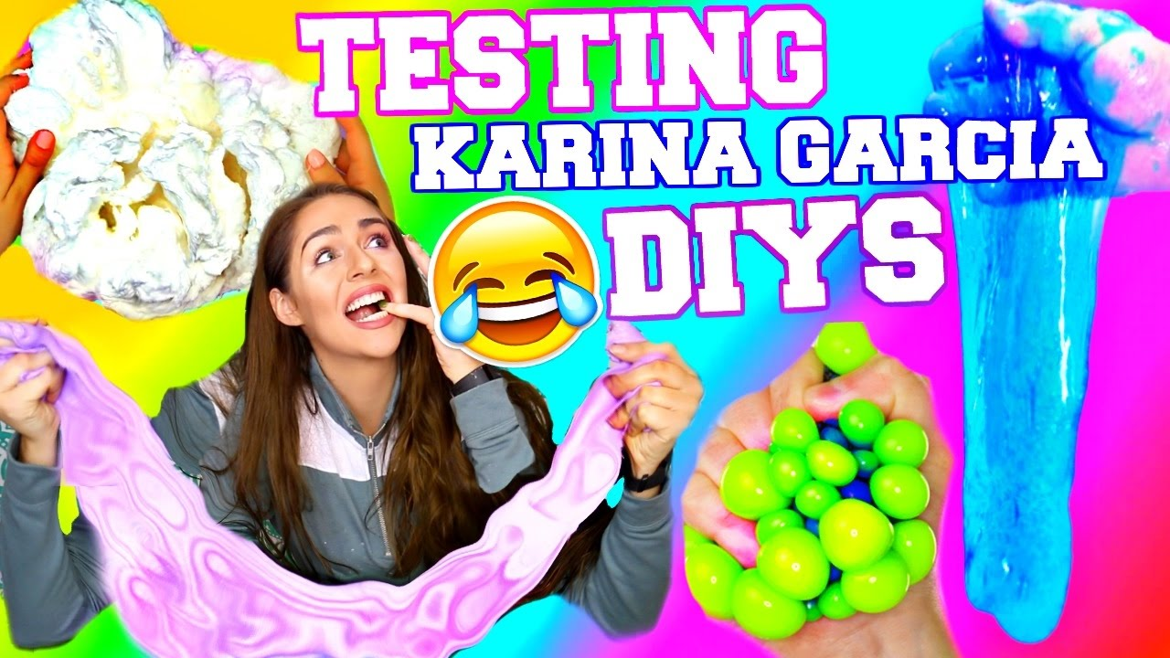 Karina Garcia Diys & Life Hacks Tested!! Slime, Gummy Nails, Jello Face  Mask!