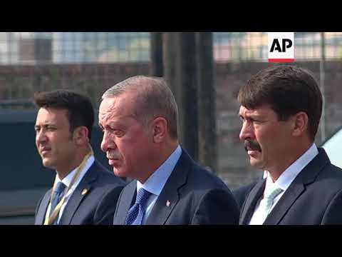Turkish President Erdogan arrives in Budapest, meets President Ader