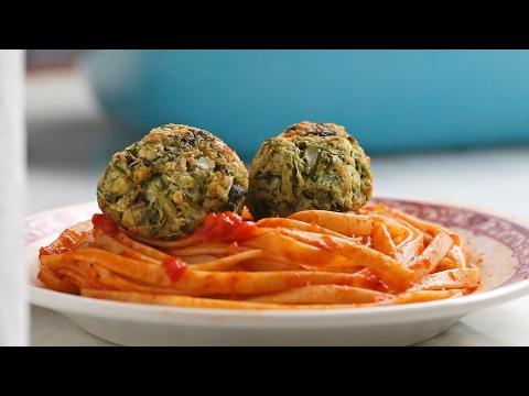 Vegetarian zucchini meatball recipe