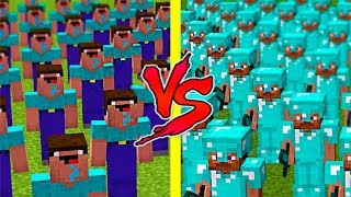 Minecraft Noob vs. Pro : 1000 CLONES Minecraft Battle challenge - 1000 Noob vs 1000 Pro
