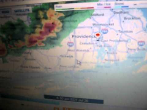 2011 New England tornado July 26 Doppler Radar and Newscast rhode island