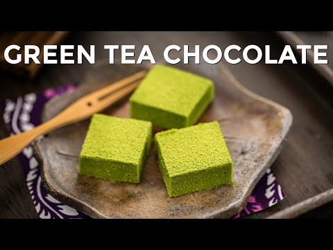 How to Make Green Tea Chocolate / Matcha Nama Chocolate (Recipe) 抹茶生チョコレートの作り方(レシピ)