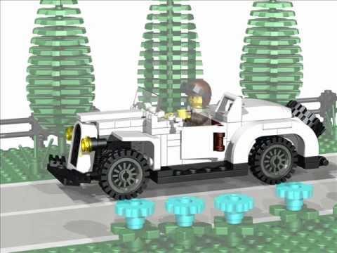 Building Instruction for Vintage LEGO Sports Car (TSL Model 2005 ...