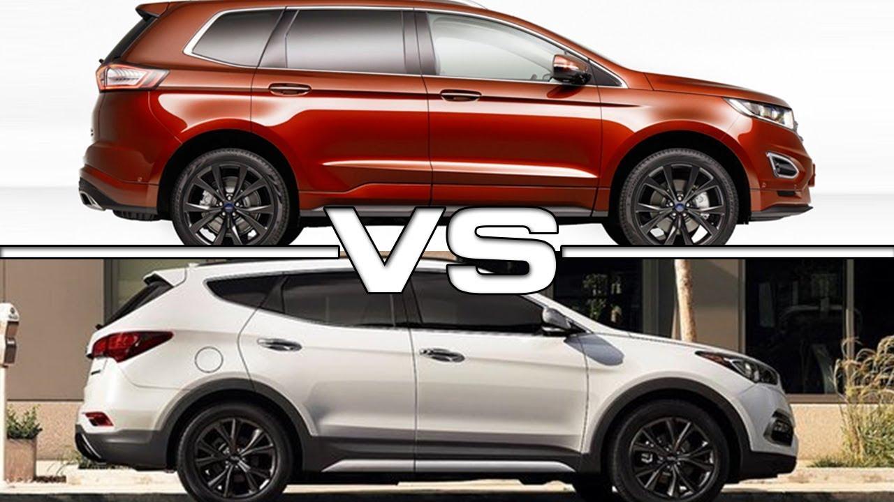 Santa Fe Ford >> 2019 Ford Edge Vs 2018 Hyundai Santa Fe Youtube