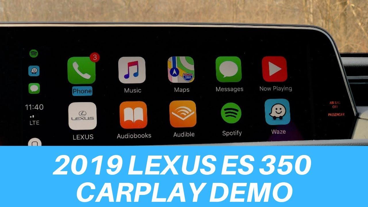 2019 lexus es 350 carplay demo  u0026 how it works
