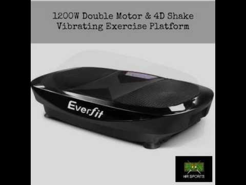 1200W Double Motor & 4D Shake Vibrating Plate Exercise Platform
