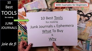 10 Best TOOLS For Making Junk Journals ✅ What To Buy And Why ⭐ For Beginners