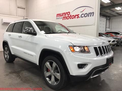 2015 Jeep Grand Cherokee SOLD Limited Navigation Low Kms Clean Carproof Munro Motors