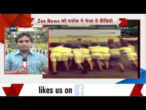 Mumbai school bus break down: Kids made to push the vehicle