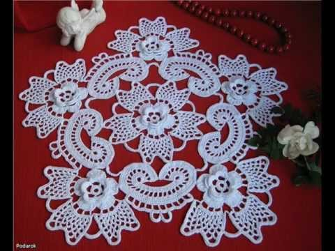 how to irish crochet doily free pattern - YouTube
