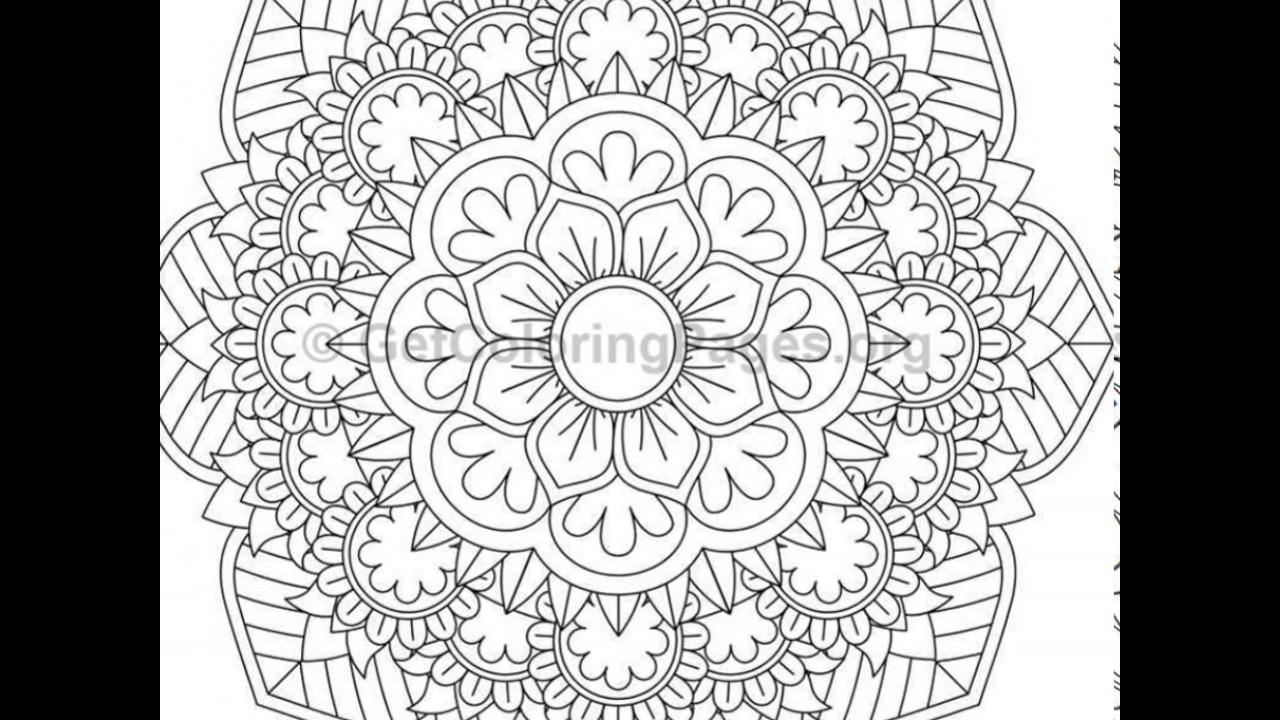Mandala Coloring Pages PDF - YouTube