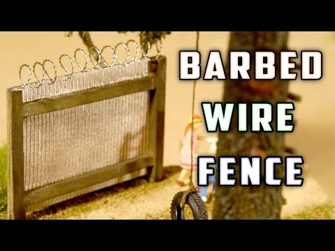 Barbed Wire Fence – How-To Design And Development Scale Model Railroad Track