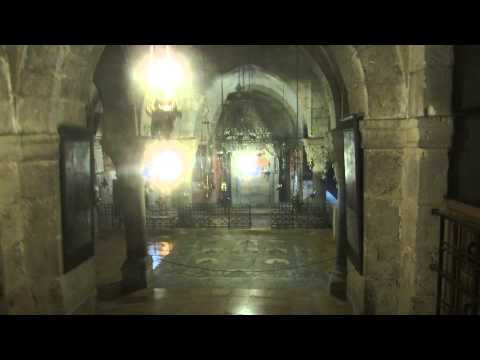 Church of the Holy Sepulchre, Jerusalem - descending to Chapel of Saint Helena. (Armenian compound)