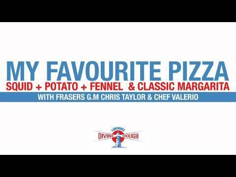 Indiana Restaurant - Squid, Potato & Fennel pizza and Classic Margarita pizza