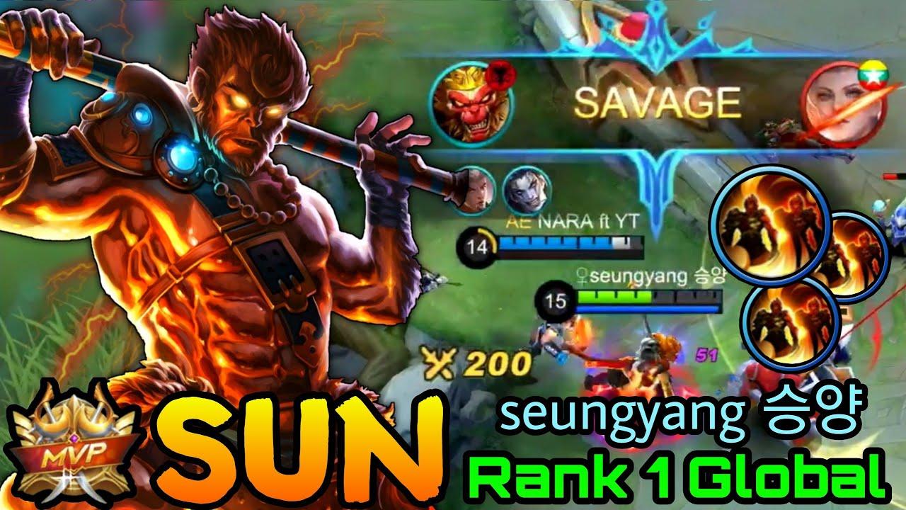 Sun SAVAGE!! - Top 1 Global Sun by ♀seungyang 승양 - Mobile Legends Bang Bang