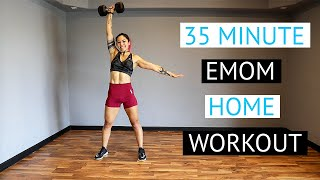 "35 Minute CrossFit WOD | ""EMOM"" at Home Workout 