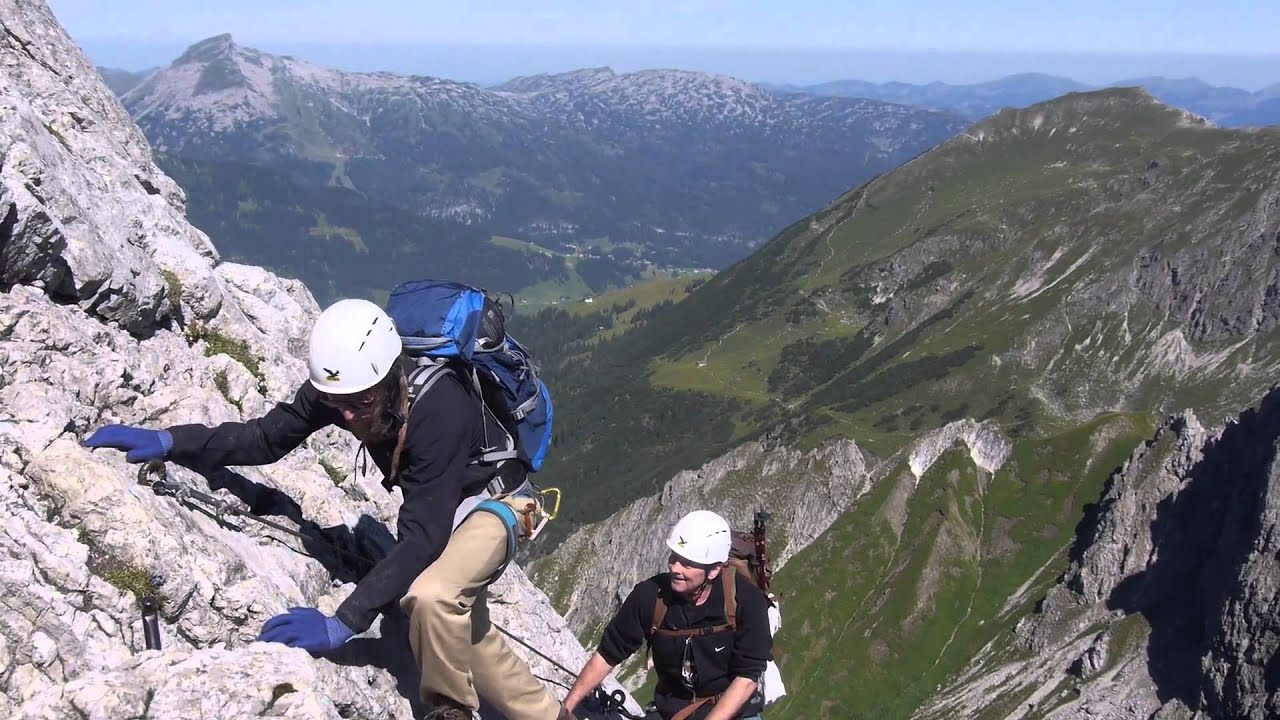 Klettersteig Mindelheimer : Mindelheimer klettersteig youtube