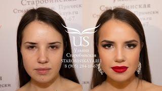 Видеоурок: Два вечерних макияжа - с акцентом на глаза и с красными губами