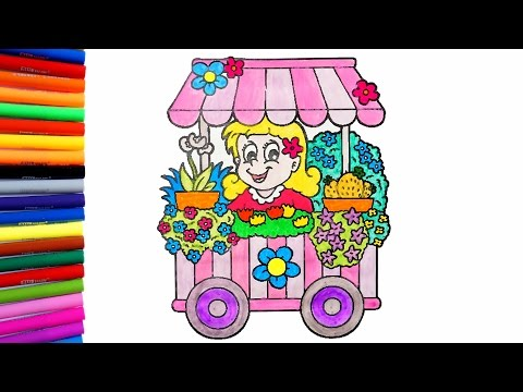 coloring-flower-shop-|-flower-coloring-page-|-colorful-house-tv