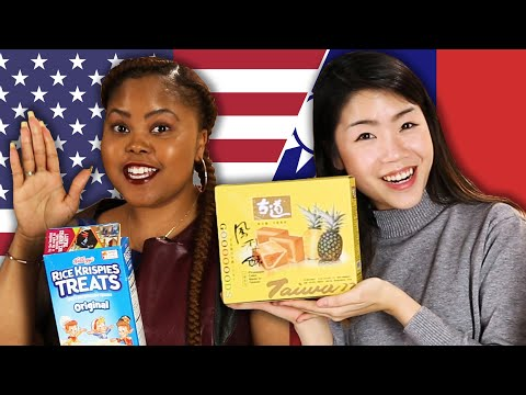 American & Taiwanese People Swap Snacks