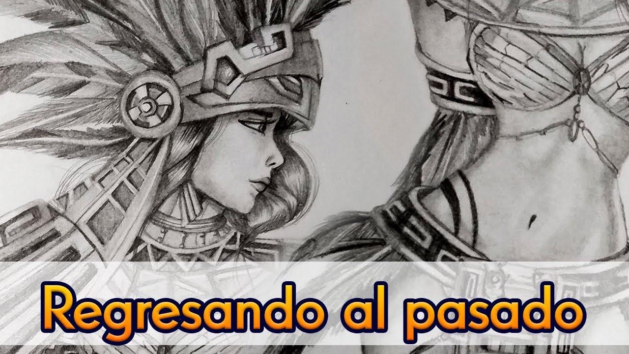 Dibujando Como En El Pasado Mis Inicios Mujer Azteca A Lápiz