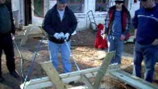 Picnic Table Construction - Jingle Bell Beaver Day 2008 (pt 2)