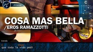 """Cómo tocar """"La Cosa Más Bella"""" de Eros Ramazzotti en Guitarra Acústica (HD) Tutorial - Christianvib"""