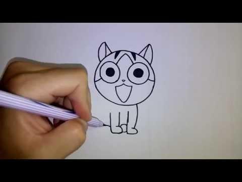 สอนวาดการ์ตูน แมวจี้ บ้านนี้ต้องมีเหมียว Chi s Sweet Home