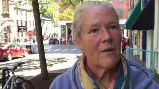 A moving message from a homeless woman in Portland (ME) to the beloved widow of her son